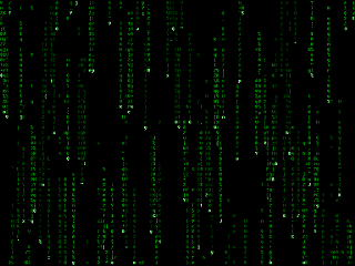 The Matrix type screen